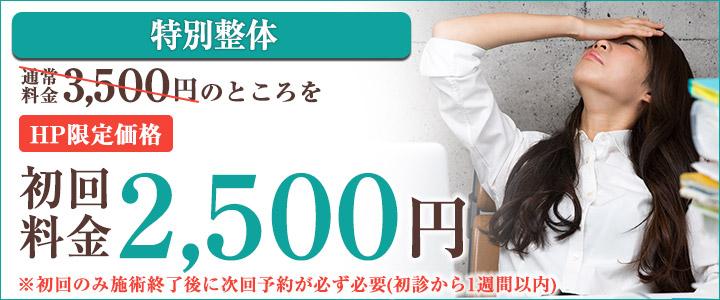 頭痛初回料金¥2000